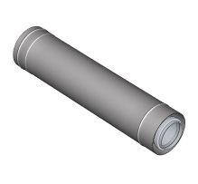 Komín Serio fasádní trubka koaxiální DN125/80 x 1000 mm nerez 52101514 (52101514) - BRILON