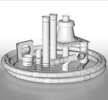 BRILON - Komín Serio komínová sada DN80 s flexibilní trubkou 52100540 (52100540)