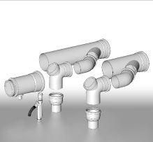 BRILON - Komín Serio komínová sada sdružených odvodů spalin pro kaskády kotlů DN160 52100615 (52100615)