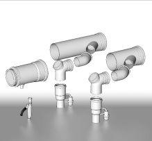 BRILON - Komín Serio komínová sada sdružených odvodů spalin se zpět.klapkami pro kaskády kotlů DN110 52100700 (52100700)
