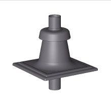 BRILON - Komín Serio komínový poklop 2xDN80 černý, plastový s vyústěním PP-UV černá 52108521 (52108521)