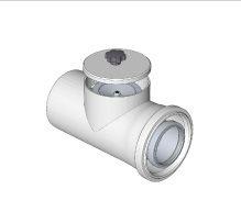 Komín Serio kontrolní kus přímý koaxiální DN100/60  hliník/plast    52100009 (52100009) - BRILON