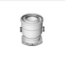 Komín Serio kotlový adaptér ZEM pro koaxiální připojení DN125/80 52105123 (52105123) - BRILON