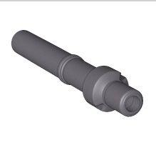 BRILON - Komín Serio střešní koncovka koaxiální DN160/110, prodloužená délka, PP černá 52107692 (52107692)