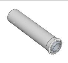Komín Serio trubka koaxiální DN100/60 x 500 mm   hliník/plast  52100002 (52100002) - BRILON