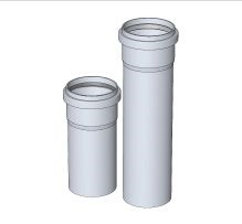 Komín Serio trubka koaxiální DN125/80 x 500 mm 52101312 (52101312) - BRILON