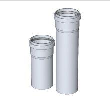 BRILON - Komín Serio trubka koncová DN110 x 500 mm, černá s UV ochranou, bez hrdla 52100121 (52100121)