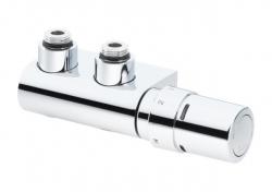 """DANFOSS VHX-Duo chrom rohový 1/2"""" s hlavicí RTX   (rozteč 50mm) 013G4379 (013G4379)"""