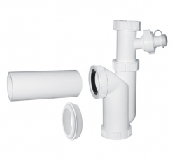 Plast Brno - Sifon dřezový 6/4-50 spodek prač. výv. 1041-50   Brno  EM16450 (EM16450)