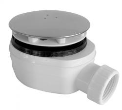 Sifon sprchový 90 SNÍŽENÝ v.63mm chrom DN40 Plast Brno, nízký  EWCN940 (EWCN940), fotografie 2/2