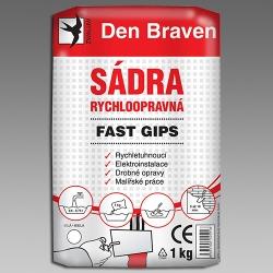 Sádra  1kg rychloopravná Fast Gips 00415GY (00415GY) - DEN BRAVEN