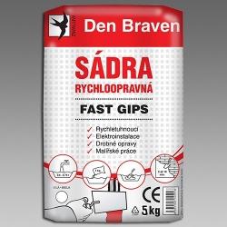 Sádra  5kg rychloopravná Fast Gips 00416GY (00416GY) - DEN BRAVEN