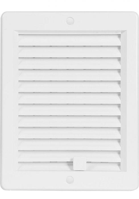 HACO Větrací mřížka s rámečkem uzavíratelná 150x200 bílá HC0209 HC0209