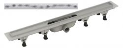 Plast Brno - Sprchový žlab plastový 755 mm s roštem design-2 (kout min.800mm) SZE2750 (SZE2750)