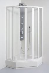 TEIKO sprchový kout pětiúhelníkový SKPU 4/90 SKLO WATER OFF BÍLÝ 90x90x185 (V331090N55T64001)