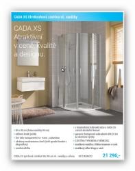 Kermi Cada XS set sprchový kout čtvrtkruh 900/2000mm  R550 +LaVilla vanička + sifon V 364786 (SETCADAXS2)