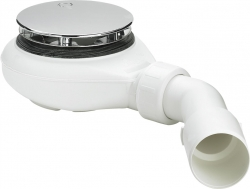 Sifon sprchový 90 SNÍŽENÝ v.60mm chrom Tempoplex Viega, nízký mod.6963  634100 (V 634100) - VIEGA  s.r.o.