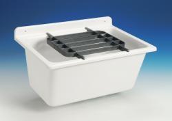 SANIT výlevka nástěnná plast bílá SANIT 61x45x35cm  bez mřížky, mycí vanička 60003010099 (60003010099) - GLYNWED