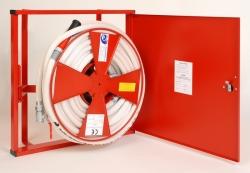 Ostatní - Hydrant komplet D-25 30m k zapuštění do zdi-s rámem (plech-červený) 51209 (SVV201)