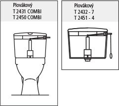FALCON - Úsporný WC splach.ventil 7010 (6010) 432101 (432101), fotografie 2/2