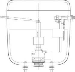 FALCON - Úsporný WC splach.ventil 7010 (6010) 432101 (432101), fotografie 4/2