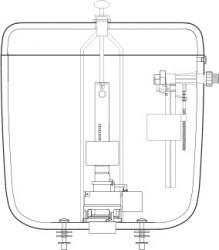 FALCON - Úsporný WC splach.ventil 7020 (6020) 432112 (432112), fotografie 4/2