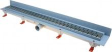 HACO Podlahový lineární žlab ke stěně 850 mm medium mat HC0542/9 HC0542/9
