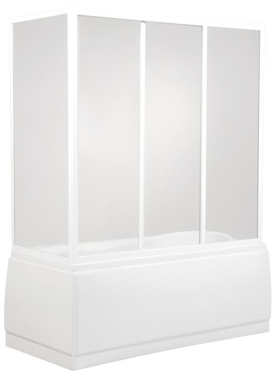 Teiko VZP2/140 S bílá/Čiré sklo, vanová zástěna 3-dílná V311140N52T32001 V311140N52T32001