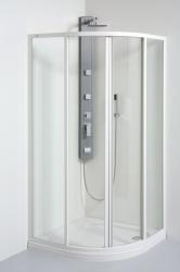 TEIKO sprchový kout čtvrtkruhový SKKH 2/80 R50 CHINCHILLA WATER OFF BÍLÝ 80x80x185 (V331080N56T22501)
