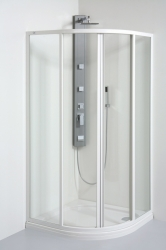 TEIKO sprchový kout čtvrtkruhový SKKH 2/90 R50 CHINCHILLA BÍLÝ 90x90x185 (V331090N53T12501)