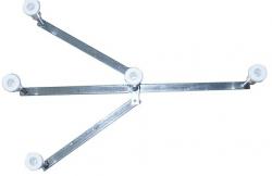 TEIKO nohy vanička kov (kříž)  (ZNH040161)