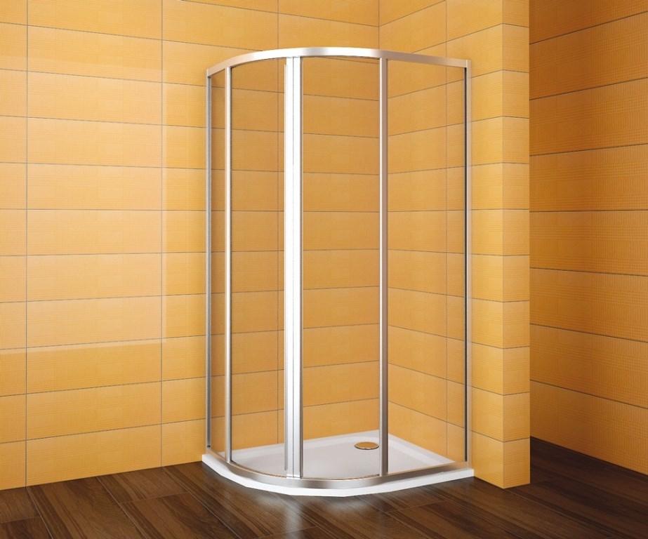 TEIKO sprchový kout čtvrtkruhový pro Virgo SKKH 2/100-80 R55 SKLO BÍLÝ 100x80x185 V331100N52T22011