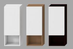 JIKA - LYRA bílá skříňka střední mělká Levá 32x800x13, 3 police 4.5317.1.038.300.1 (H4531710383001)