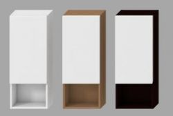 JIKA - LYRA bílá skříňka střední mělká Pravá 32x800x13, 3 police 4.5317.2.038.300.1 (H4531720383001)