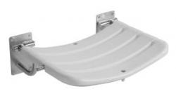 JIKA UNIVERSUM nerez/bílá sedačka do sprchy sklopná 3.8971.8.003.000.1 (H3897180030001)