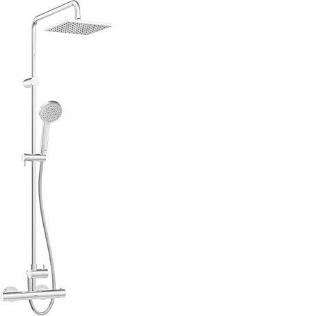 HANSAUNITA Sprchová baterie termostatická dešťovou sprchou 20x20cm 581491130067 HA581491130067