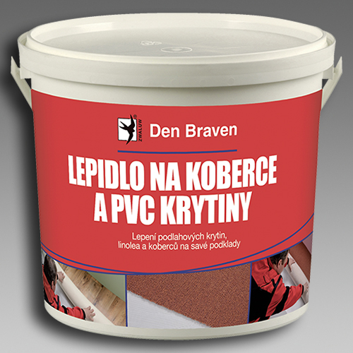 Lepidlo na koberce a PVC krytiny, DenBraven, 5kg kbelík 51002RL 51002RL
