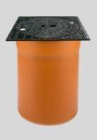 KGRV šachtový teleskop poklop bez odvětr.300 12t  BEZ GUM.MANŽETY, čtvercový  O 62100 (O 62100) - GLYNWED