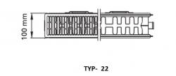 Kermi radiátor Profil bílá V22  400 x  800 Pravý  (FTV220400801R1K), fotografie 2/1