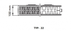 Kermi radiátor Profil bílá V22  600 x 1600 Pravý  (FTV220601601R1K), fotografie 2/1