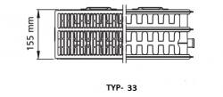 Kermi radiátor Profil bílá V33  500 x  800 Pravý  (FTV330500801R1K), fotografie 2/1