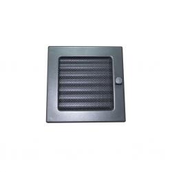 HACO Lakovaná krbová mřížka s rámečkem a síťovinou  uzaviratelná 170x170 grafit HC0722 (HC0722)