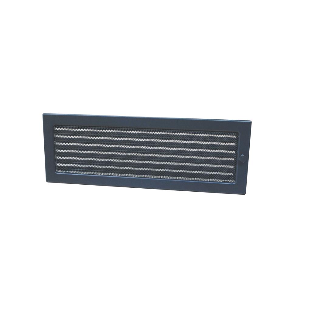 HACO Lakovaná krbová mřížka s rámečkem a síťovinou uzaviratelná 170x490 grafit HC0723 HC0723