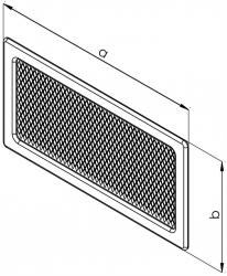 HACO Lakovaná krbová mřížka s rámečkem a síťovinou  uzaviratelná 170x490 grafit HC0723 (HC0723), fotografie 2/1