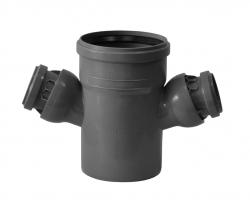 HT odbočka dvojitá HTDA 110/50/50 s klouby     Plast BRNO COKA556 (COKA556)