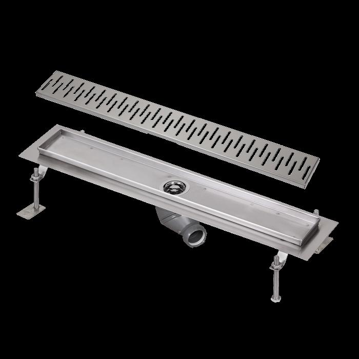 Sanela SLKN 03C Nerezový koupelnový žlábek do prostoru, délka 750 mm, lesklý SL 69033