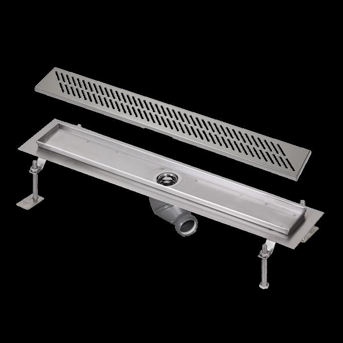 Sanela SLKN 03DX Nerezový koupelnový žlábek do prostoru, délka 750 mm, matný SL 68034