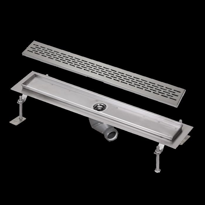 Sanela SLKN 03EX Nerezový koupelnový žlábek do prostoru, délka 750 mm, matný SL 68035