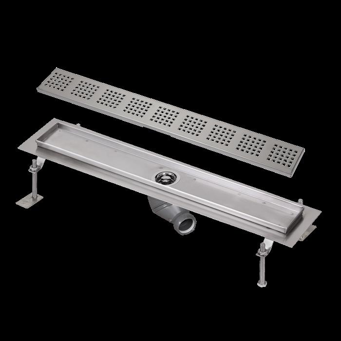 Sanela SLKN 03F Nerezový koupelnový žlábek do prostoru, délka 750 mm, lesklý SL 69036