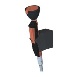 Sanela SLSN 21 Ruční oční sprcha s jednou hlavicí a držákem na stěnu,  sklon 45° (SL 92210)
